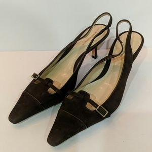 Ann Taylor Brown Leather Heels Size 7